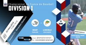 D1 - Sénart Templiers vs La Rochelle Boucaniers @ Templiers Stadium
